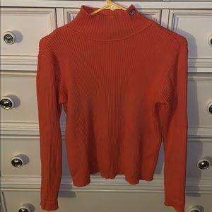 Coral/Orange Ralph Lauren Mockneck Sweater